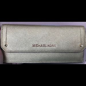 Gold Michael Kors wallet